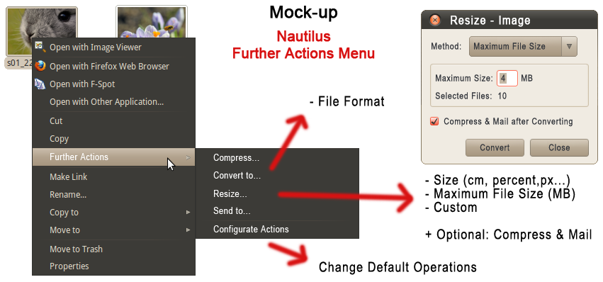 Nautilus - Further Action Menu